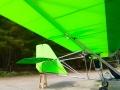neongrüne Dacron Bespannung