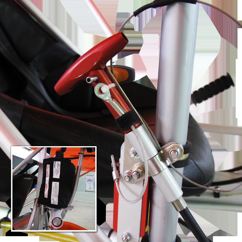 Bei der AEROLiTE 120 wird serienmäßig das&nbsp;Junkers Magnum 250 SP verbaut. Das Rettungssystem wurde an zwei Punkten an der Zelle der AEROLiTE 120 befestigt. Beide Punkte liegen in der Symmetrieebene des Flugzeugs. Ein Punkt ist an der vorderen Flügelbefestigung und der Zweite auf der Rückseite der Flügelwurzeln befestigt. Sie sind in der Lage das 1,3-fache der Last in alle Richtungen zu halten.<br />