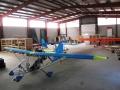 das fertige Flugzeug in der  Manufaktur VIERWERK